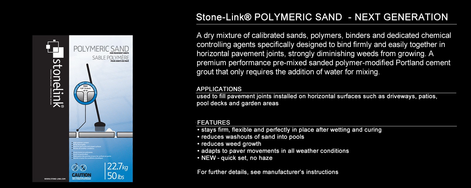 Stone-Link® Polymeric Sand