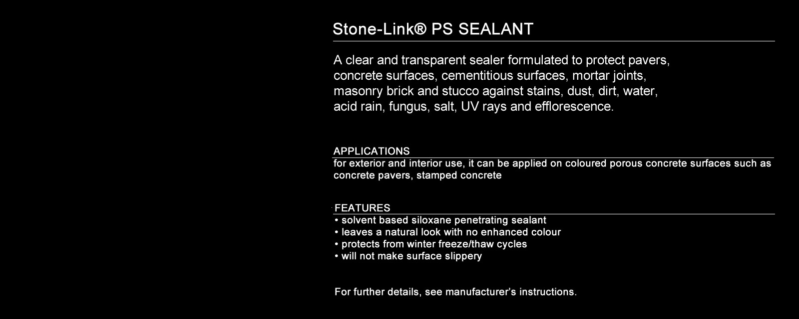 Siloxane Sealer