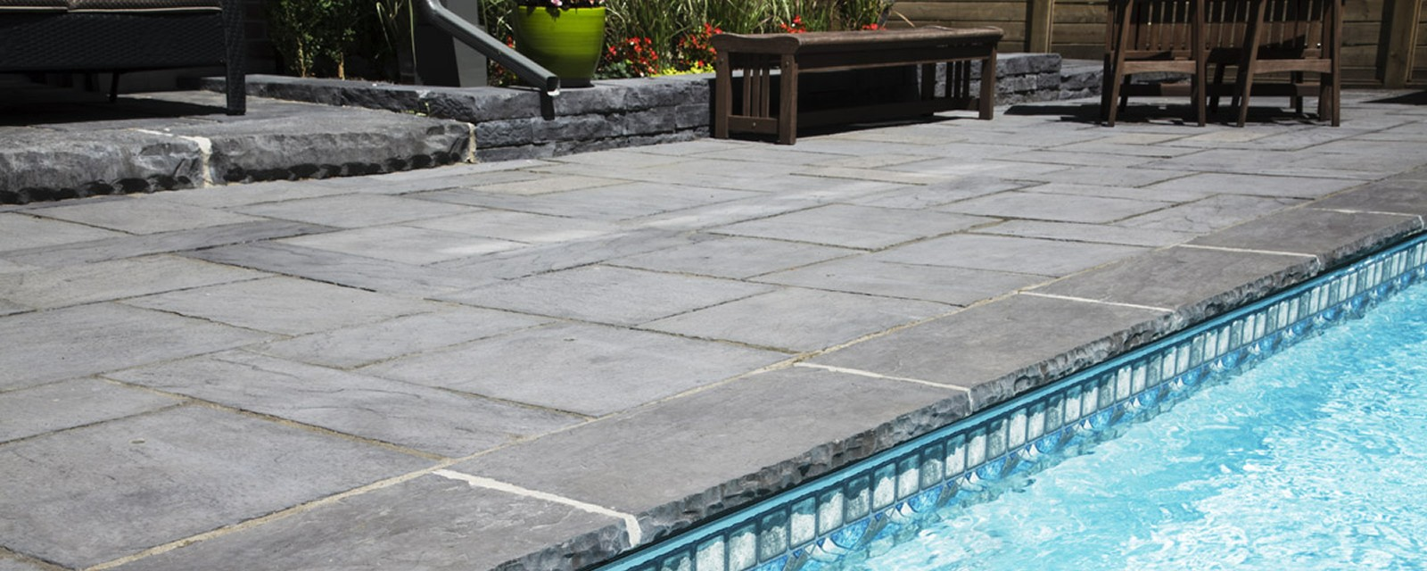Grey Stamped Concrete Patio